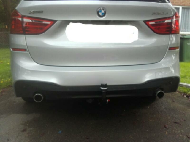 BMW 220d after towbar was fitted